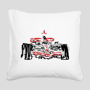 Race car Square Canvas Pillow