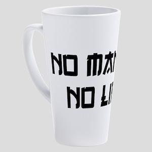 NO MANGA NO LIFE 17 oz Latte Mug