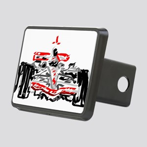 Race car Rectangular Hitch Cover