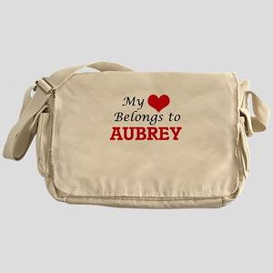 My heart belongs to Aubrey Messenger Bag