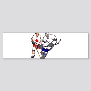 Ice Hockey Bumper Sticker