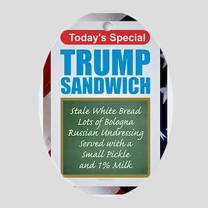 Trump Sandwich Oval Ornament