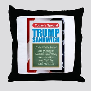 Trump Sandwich Throw Pillow