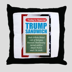 Trump Sandwich Throw Pillow