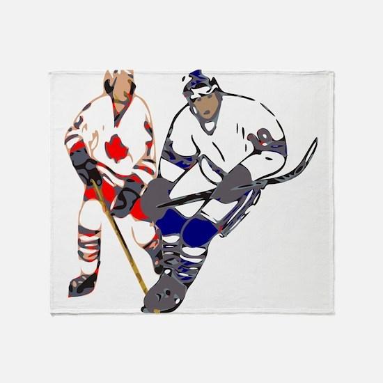 Ice Hockey Throw Blanket
