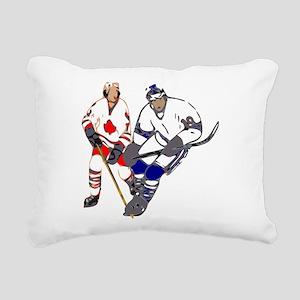 Ice Hockey Rectangular Canvas Pillow