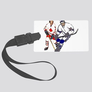 Ice Hockey Large Luggage Tag
