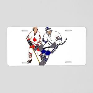 Ice Hockey Aluminum License Plate