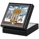 Winter Cottage Keepsake Box