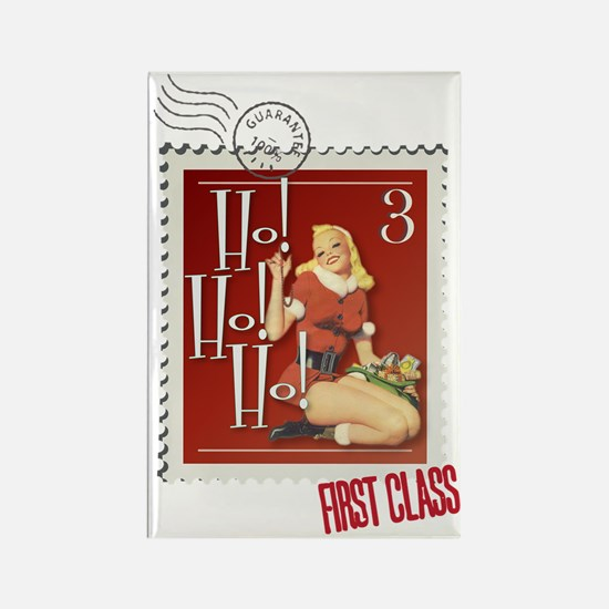 Ho! Ho! Ho! Kitschmas Stamp Rectangle Magnet