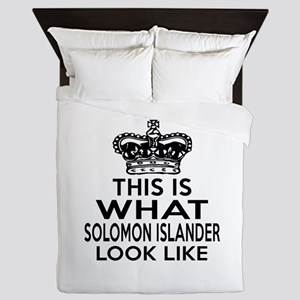 I Am Solomon Islander Queen Duvet