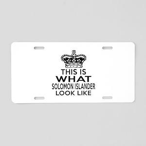 I Am Solomon Islander Aluminum License Plate