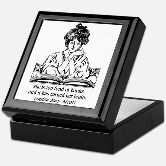Too Fond of Books (LM Alcott) Keepsake Box