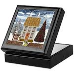Merry Christmas Cottage Keepsake Box