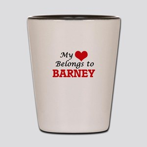My heart belongs to Barney Shot Glass