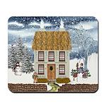Winter Cottage Mousepad