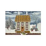 Winter Cottage Magnets (10 pack)