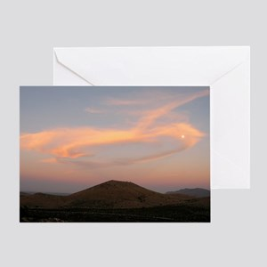 Mountain, Cloud and Moon Greeting Card