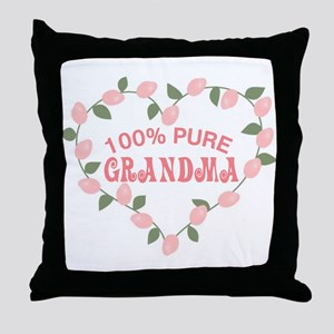 100% Pure Grandma Throw Pillow