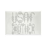 USAF Brother Rectangle Magnet (100 pack)