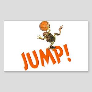 Basketball Jump Frog Rectangle Sticker