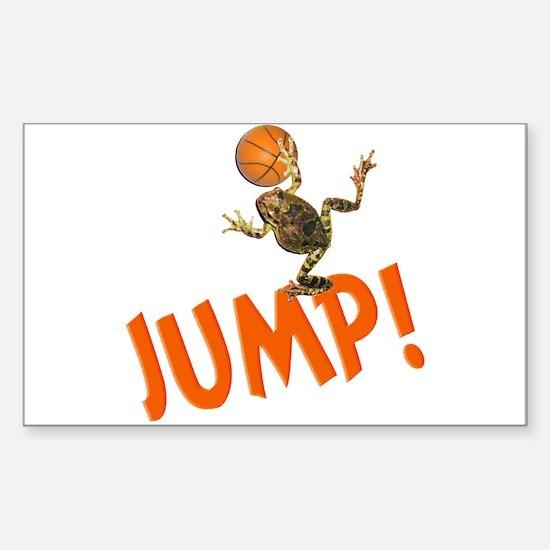 Basketball Jump Frog Rectangle Decal