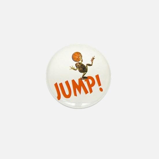 Basketball Jump Frog Mini Button