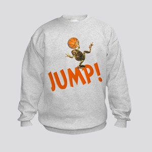 Basketball Jump Frog Kids Sweatshirt