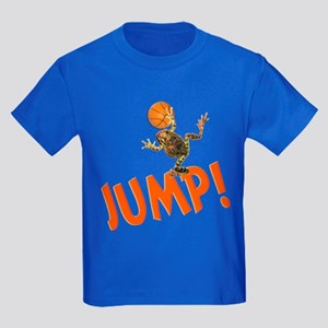 Basketball Jump Frog Kids Dark T-Shirt