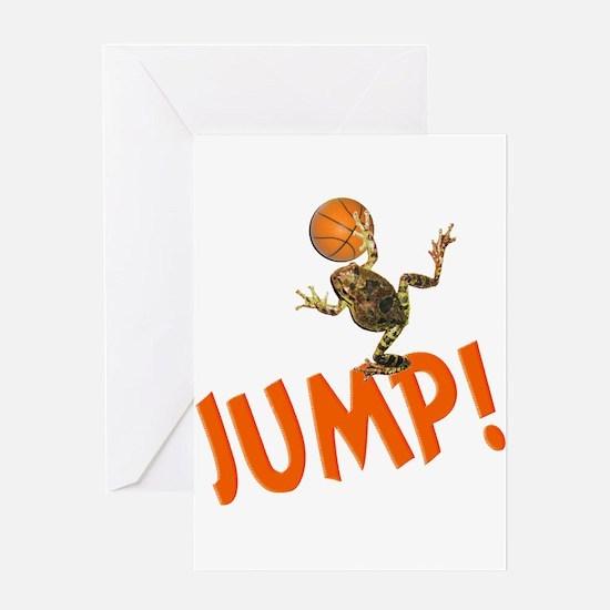 Basketball Jump Frog Greeting Card