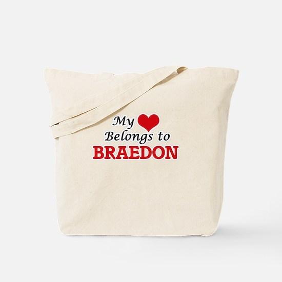 My heart belongs to Braedon Tote Bag