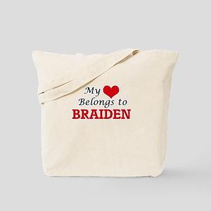 My heart belongs to Braiden Tote Bag