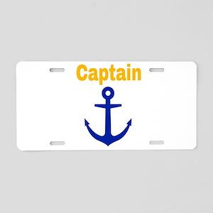 Captain Aluminum License Plate