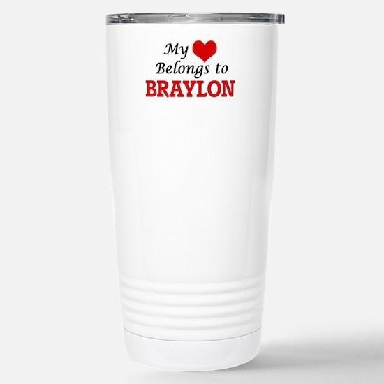 My heart belongs to Bra Stainless Steel Travel Mug