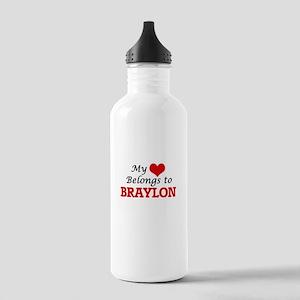 My heart belongs to Br Stainless Water Bottle 1.0L