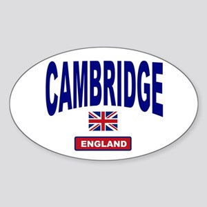Cambridge England Oval Sticker