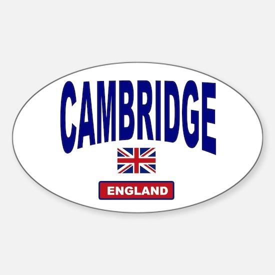 Cambridge England Oval Decal