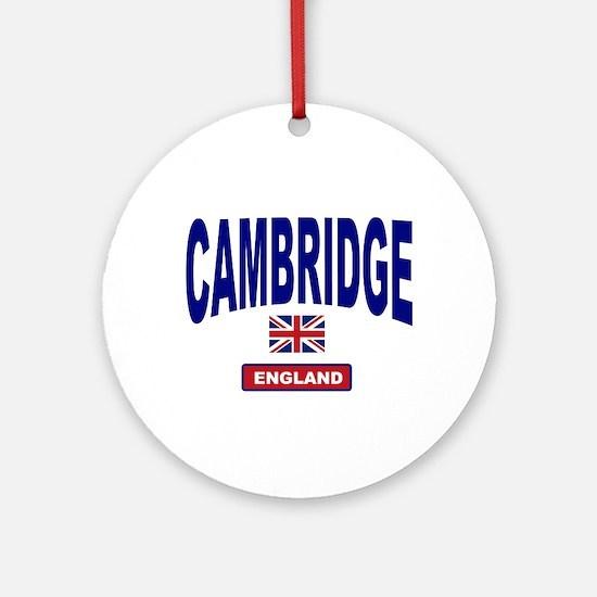 Cambridge England Ornament (Round)