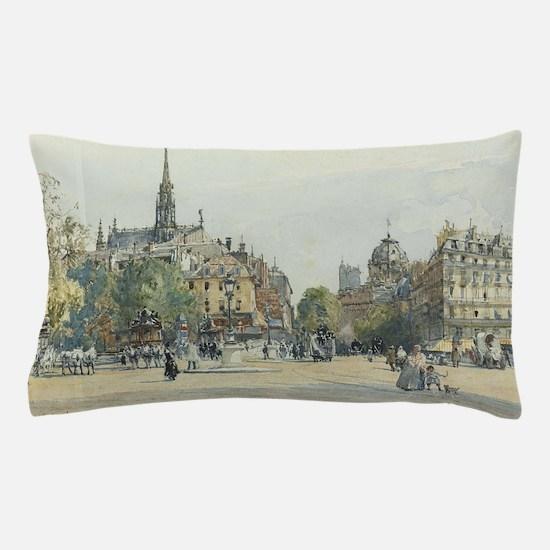 Cute Paintings of paris Pillow Case