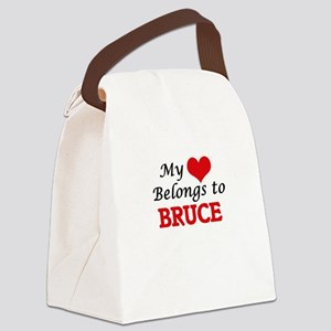 My heart belongs to Bruce Canvas Lunch Bag