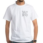 Navy Brother White T-Shirt