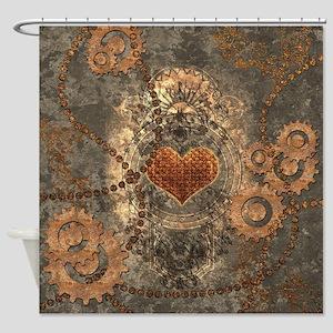 Steampunk, wonderful heart made of rusty metal Sho