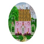 Honeymoon Cottage Oval Ornament