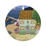 Lakeside Cottage Ornament (Round)