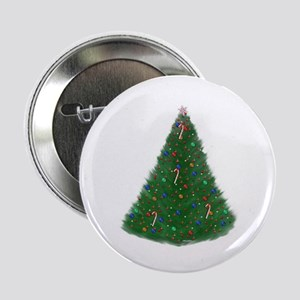 Christmas Tree Button 2.25""