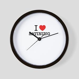 I Love SATINING Wall Clock