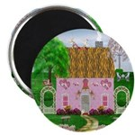 Honeymoon Cottage Round Magnets (10 pack)