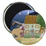 Lakeside Cottage Round Magnets (10 pack)