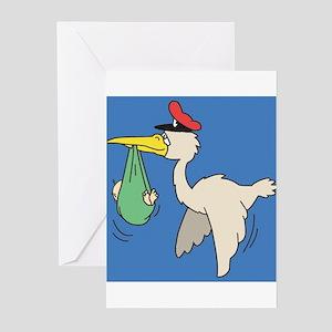 Baby & stork Baby shower invites (Pk of 10)