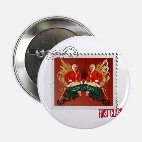 "Pin-Up Kitschmas Stamp 2.25"" Button"
